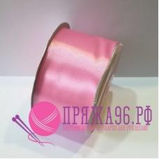 Атласная лента, 50 мм, цвет №065 розовый
