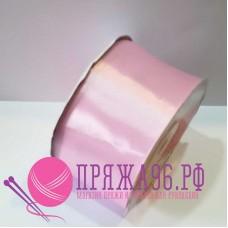 Атласная лента, 50 мм, цвет №071 нежно-розовый