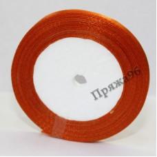 Атласная лента, 6 мм, №01 оранжевый