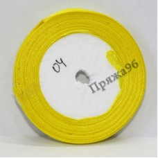 Атласная лента, 6 мм, №04 желтый