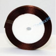 Атласная лента, 6 мм, №05 коричневый