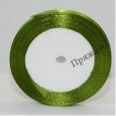 Атласная лента, 6 мм, №11 оливковый