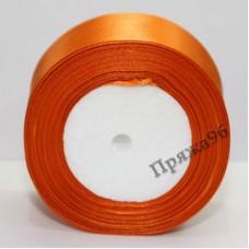 Атласная лента, 50 мм, цвет №51 морковный