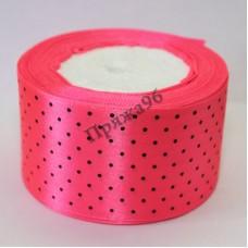 Лента горох, цвет ярко-розовый, 50 мм
