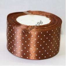Лента горох, цвет коричневый, 50 мм