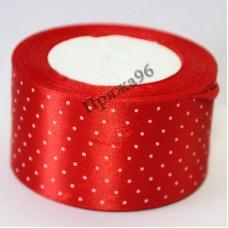 Лента горох, цвет красный, 50 мм