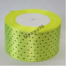 Лента горох, цвет лимонный, 50 мм