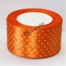 Лента горох, цвет оранжевый, 50 мм