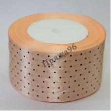 Лента горох, цвет персиковый, 50 мм