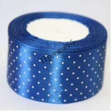 Лента горох, цвет синий, 50 мм