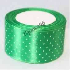 Лента горох, цвет зеленый, 50 мм