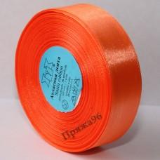 Атласная лента, 25 мм, цвет №023 ярко-оранжевый