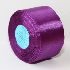 Атласная лента, 50 мм, цвет №046 фиолетовый