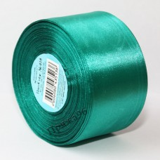 Атласная лента, 50 мм, цвет №016 изумруд