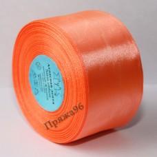 Атласная лента, 50 мм, цвет №024 ярко-оранжевый