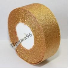 Парчовая лента, цвет №304 золото, 40 мм