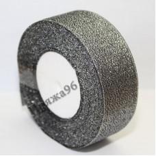 Парчовая лента, цвет №312 черный, 40 мм