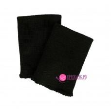 Манжеты трикотажные 9х6 см, цвет черный
