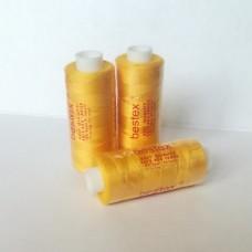 Нитки Bestex 40/2 400 ярд. (100% полиэстер), цвет 208 желтый