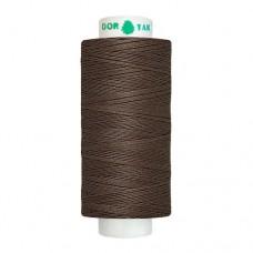 Нитки Dor Tak. Цвет - 346 темно-коричневый. 40/2 400 ярд. (100% полиэстер)