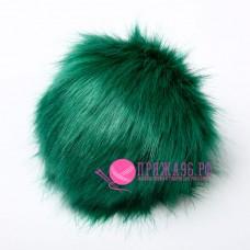 Помпон меховой искусственный, 14 см, цвет зеленая трава