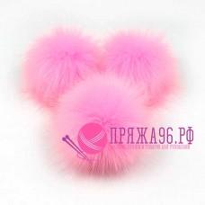 Помпон меховой искусственный, цвет розовый, 8 см