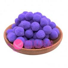 Помпоны 2 см, цвет фиолетовый