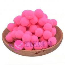 Помпоны 2 см, цвет ярко-розовый
