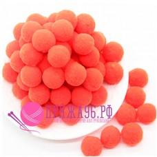 Помпоны 2 см, цвет оранжевый