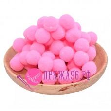 Помпоны 2 см, цвет розовый