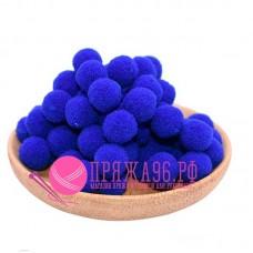 Помпоны 2 см, цвет синий