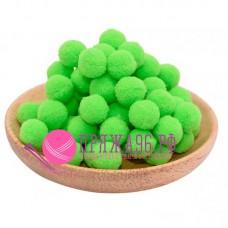 Помпоны 2 см, цвет светло-зеленый