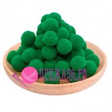 Помпоны 2 см, цвет зеленый