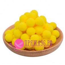 Помпоны 2 см, цвет желтый