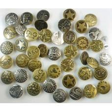 Джинсовые пуговицы (на гвоздике), металлические - 20 мм в диаметре