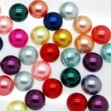 Полубусина цветная, 12 мм