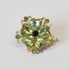 Брошь - зеленый цветок